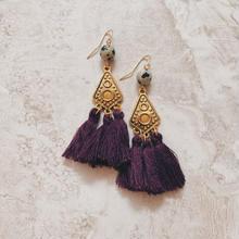 gold native purple fringe pierce