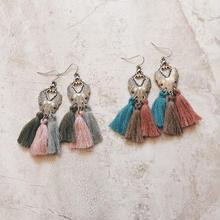 silver chandelier colorful fringe pierce