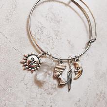 silver charm bangle