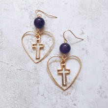 heart hoop cross pierce