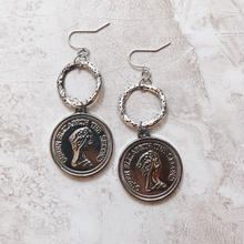 Acryl silver coin ring pierce
