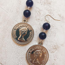 purple stone big coin pierce