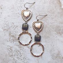 silver heart silver ring pierce
