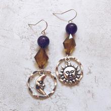 purple stone sun moon pierce