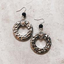 silver heart big ring pierce