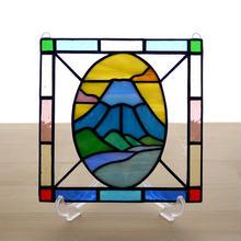 ステンドグラス ミニパネル 富士山 15cm