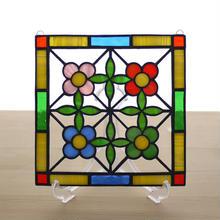 ステンドグラス ミニパネル 花壇 15cm