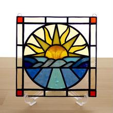 ステンドグラス ミニパネル サンライズ 15cm