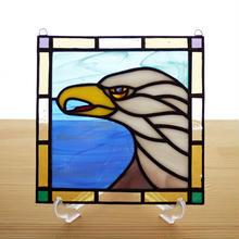 ステンドグラス ミニパネル イーグル 15cm