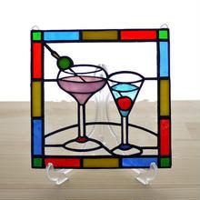 ステンドグラス ミニパネル カクテル 15cm