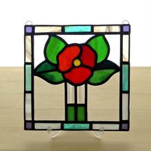 ステンドグラスパネル フラワー Sサイズ