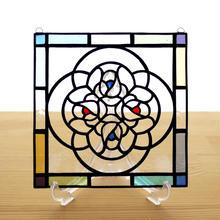 ステンドグラス ミニパネル ブーケ クリア 15cm