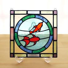 ステンドグラス ミニパネル 金魚 15cm