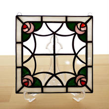 ステンドグラス ミニパネル ローズガーデン 15cm