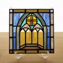 ステンドグラス ミニパネル チャペル 15cm