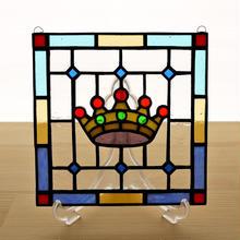ステンドグラス ミニパネル クラウン 15cm