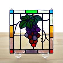ステンドグラス ミニパネル ブドウ 15cm