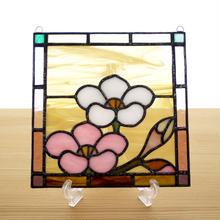 ステンドグラス ミニパネル 梅 15cm
