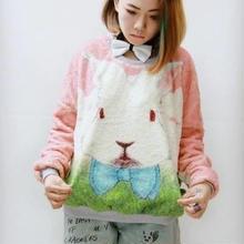 ウサギ モコモコ シャギー カットソー