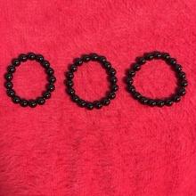 NO5 ネガティブ波動や邪気消失する黒水晶(10mm玉・16センチ))