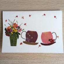 メッセージカード TEA FOR TWO(2つ折り/封筒付)