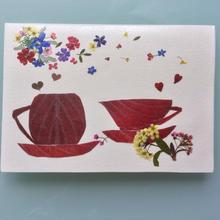 メッセージカード ティータイムA01(2つ折り/封筒付)