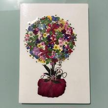 メッセージカード ボール・オブ・フラワーAp01(2つ折り/封筒付)