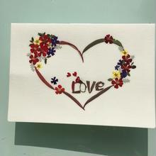 メッセージカード LOVE(2つ折り/封筒付)