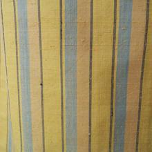 【単衣】鬱金色(うこんいろ)の縞紬
