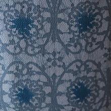 【袷】型染藍染めろうけつ小紋