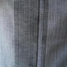 【浴衣】白灰系太縞浴衣