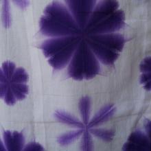【浴衣】本場有松絞り 梅紫の雪花絞り浴衣