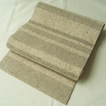 【なごや帯】白たか織 寄せ絹 手織り 八寸帯