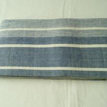 【半幅帯】泰荘麻 濃淡ブルーにライン
