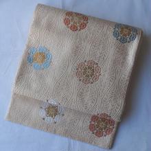 【ふくろ帯】立涌に唐織の華文袋帯