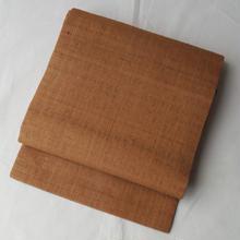 【なごや帯】琥珀色の紬なごや帯
