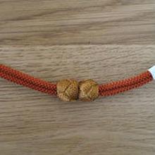 【羽織紐】マグネット式羽織紐 橙/辛子色