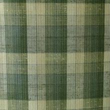 【単衣・紬】トールサイズ・グリーン系格子紬