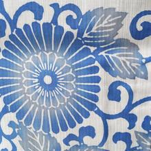 【浴衣】ペールブルー系菊唐草の浴衣