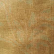 【袷】黄朽葉(きくちば)色 更紗文 しょうざん生紬