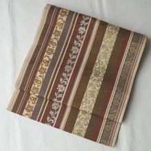 【なごや帯】博多織 更紗柄 八寸開きなごや帯