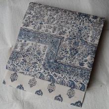 【なごや帯】洋更紗柄の生紬なごや帯