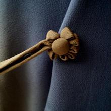 【コート】菫鼠色と江戸茶色のたて暈し 道中着