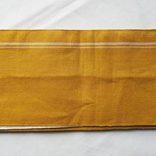 【半幅帯】辛子色×薄砂色リバーシブル半幅帯
