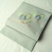 HOLD中【なごや帯】薄青磁色地 松文 名古屋帯