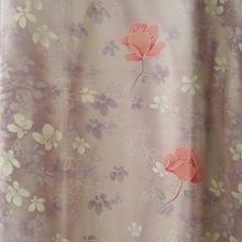 【袷・アウトレット】 薄紫 濃淡暈し花文 小紋