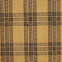 【単衣】ざざんざ織 黄橡 (キツルバミ)色に黒格子