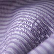 【夏・麻】紫苑(しおん)色 細縞 小千谷ちぢみ