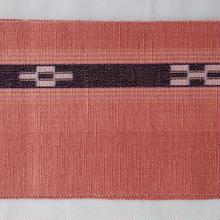 【半巾帯】草木染め八重山ミンサー半幅帯