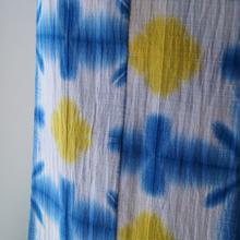 【浴衣】青と黄色   雪花絞り トールサイズ